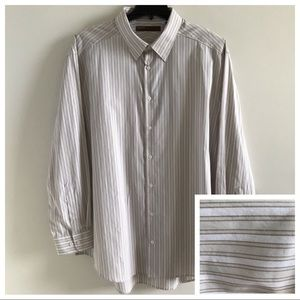Perry Ellis Mens Long Sleeve Button Down Shirt 2XL